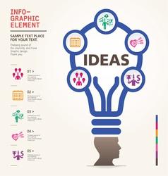 Bulb icon with idea concept info graphic vector