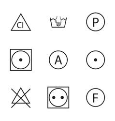 Washing signs icons set vector