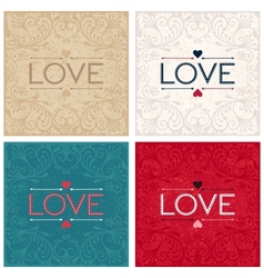 Vintage lettering design word love vector