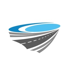 Road or highway color icon vector