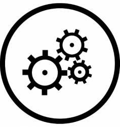 Gearswheel logo vector