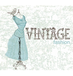 Vintage card with retro dummy vector