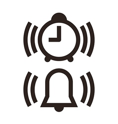 Clock and alarm icon vector