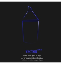 Pencil icon symbol flat modern web design with vector