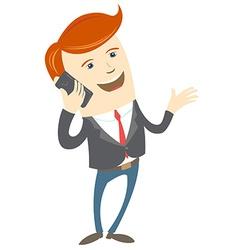 Office man phone talking vector
