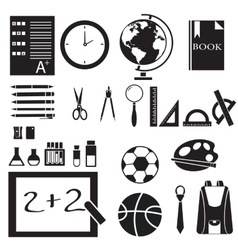 Icons set of back to school concept pictogram vector