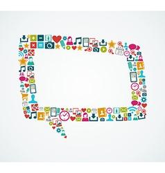 Social media icons isolated speech bubble eps10 vector