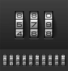 Combination code lock numbers vector