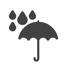 Umbrella with rain vector