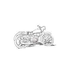 Old motorcycle vector