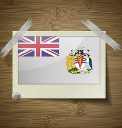 Flags british antarctic territory at frame on vector