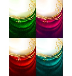 Fabric curtain ornament vector