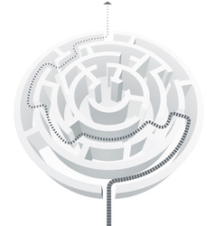 Simple white maze vector