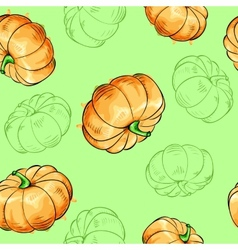 Pumpkins seamless pattern vector