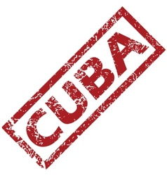 New cuba rubber stamp vector