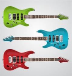Set of electric guitars vector
