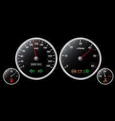 Car's dashboard vector