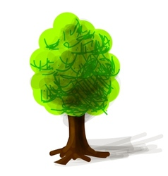 Tree cartoon icon vector