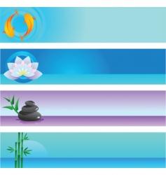 Zen banners vector