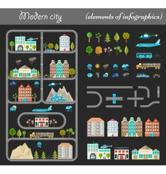 Elements of city night vector