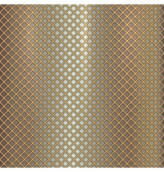 Gold grille on steel background vector