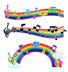 Rainbow music 001 vector