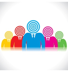 Business people with archery head vector