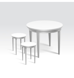 Empty round table with two chairs vector