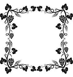 Grapevine frame vector