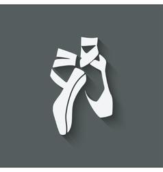 Ballet dance studio symbol vector