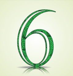 Number 6 design vector
