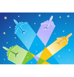 3d airplanes vector