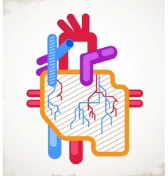 Human heart health disease and attack icon vector