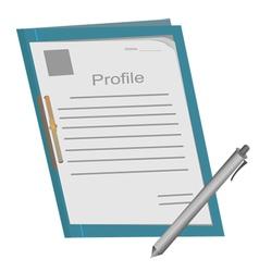Profile folder1 vector