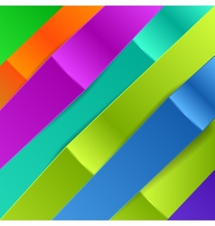 Colorful diagonal banners for business vector