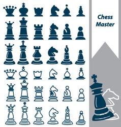Chess master vector