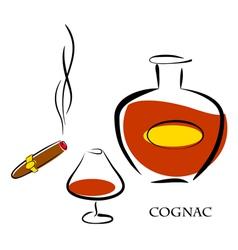Cognac vector