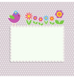 Frame with bird vector