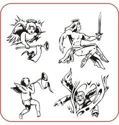 Angels - set vector