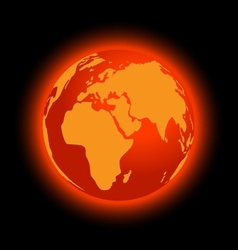 Abstract global warming vector