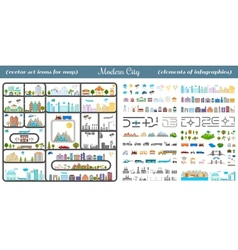 Elements of the modern city - stock vector
