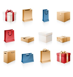 Bags amd boxes vector