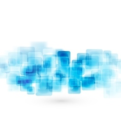 Blue shiny squares technical background vector