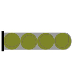 Tube with balls vector