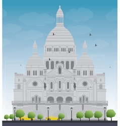 Basilica of the sacred heart vector