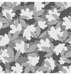 Grey foliage camouflage seamless pattern vector
