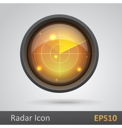 Realistic radar icon vector