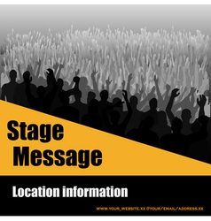 Stage message flyer vector