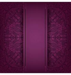 Lace purple background vector
