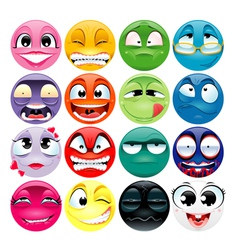 Funny faces with different expressions vector